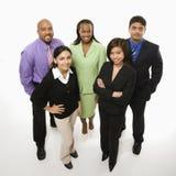 Ritratto della gente di affari levarsi in piedi. Immagini Stock