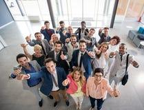 Ritratto della gente di affari sorridente Immagine Stock