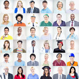Ritratto della gente mista multietnica di occupazioni Immagine Stock Libera da Diritti