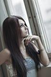 Ritratto della giovane donna Immagine Stock