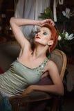 Ritratto della giovane donna adulta fotografia stock libera da diritti