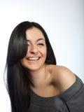 Ritratto della giovane donna attraente Fotografia Stock