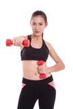 Ritratto della giovane donna che fa esercizio Immagine Stock Libera da Diritti