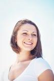 Ritratto della giovane donna con capelli sudici Fotografia Stock Libera da Diritti