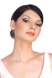 Ritratto della giovane donna di Atractive, osservante giù 2 Fotografia Stock Libera da Diritti