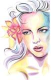 Ritratto della giovane donna di Colorfull Immagini Stock Libere da Diritti