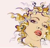 Ritratto della giovane donna di Colorfull Immagine Stock