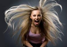 Ritratto della giovane donna di espressione fotografia stock