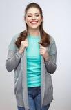 Ritratto della giovane donna di stile casuale Fotografie Stock