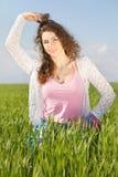 Ritratto della giovane donna splendida felice fotografie stock libere da diritti
