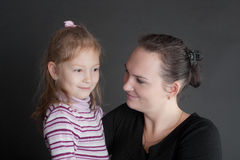 Ritratto della madre con la figlia fotografie stock libere da diritti