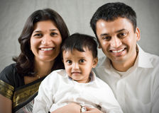 Ritratto della madre, del padre e del figlio Fotografie Stock Libere da Diritti