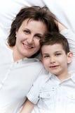 Ritratto della madre e del bambino immagini stock libere da diritti