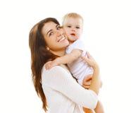 Ritratto della madre e del bambino felici insieme Fotografia Stock