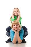 Ritratto della madre e della figlia Fotografia Stock