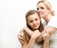 Ritratto della madre e della figlia Fotografie Stock Libere da Diritti