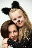 Ritratto della madre e della figlia Immagini Stock