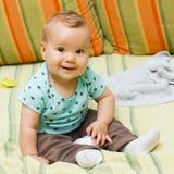 Neonata sveglia Fotografia Stock Libera da Diritti