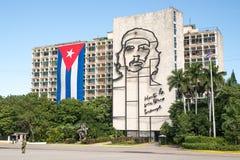 Ritratto della parete del ` s di Che al quadrato Avana di rivoluzione Immagini Stock Libere da Diritti