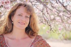 Ritratto della primavera di bei 40 anni della donna Fotografia Stock Libera da Diritti