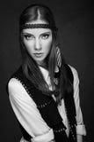 Ritratto della ragazza alla moda Immagine Stock