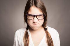 Ritratto della ragazza arrabbiata Immagine Stock Libera da Diritti