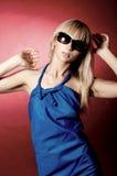 Ritratto della ragazza in azzurro Immagine Stock Libera da Diritti
