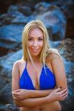 Ritratto della ragazza in bikini Immagine Stock