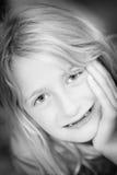 Ritratto della ragazza bionda Fotografie Stock Libere da Diritti