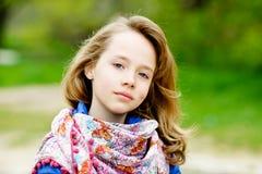 Ritratto della ragazza bionda Fotografie Stock