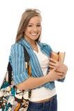 Ritratto della ragazza casuale felice Fotografia Stock