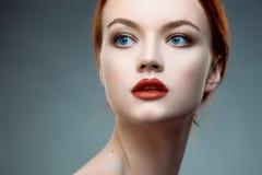 Ritratto della ragazza con bella pelle Immagini Stock Libere da Diritti