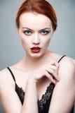 Ritratto della ragazza con bella pelle Fotografia Stock