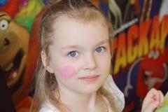 Ritratto della ragazza con gli occhi azzurri Immagini Stock