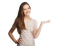 Ritratto della ragazza con il puntatore Immagini Stock Libere da Diritti