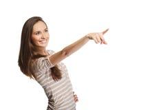 Ritratto della ragazza con il puntatore Immagine Stock