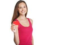 Ritratto della ragazza con il puntatore Fotografie Stock Libere da Diritti