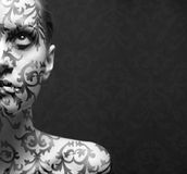 Ritratto della ragazza con trucco Fotografia Stock
