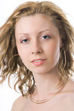Ritratto della ragazza dei primi piani Immagine Stock