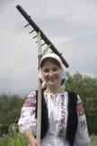 Ritratto della ragazza del paese Fotografia Stock Libera da Diritti