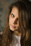Ritratto della ragazza dell'adolescente di beautifu Fotografia Stock Libera da Diritti