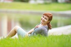 Ritratto della ragazza della testarossa Fotografia Stock Libera da Diritti