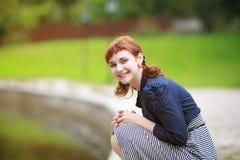 Ritratto della ragazza della testarossa Fotografia Stock