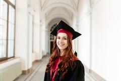 Ritratto della ragazza dello studente di laurea dell'università Immagini Stock Libere da Diritti