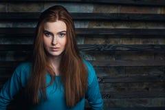 Ritratto della ragazza dello zenzero Fotografia Stock