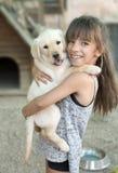 Ritratto della ragazza di 10 anni Fotografia Stock