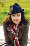 Ritratto della ragazza di autunno Fotografia Stock Libera da Diritti