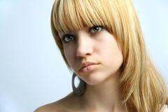 Ritratto della ragazza di bellezza. Fotografie Stock
