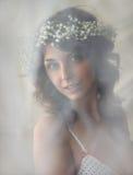 Ritratto della ragazza di bellezza nella morbidezza fotografia stock