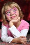 Ritratto della ragazza di carnevale fotografia stock libera da diritti